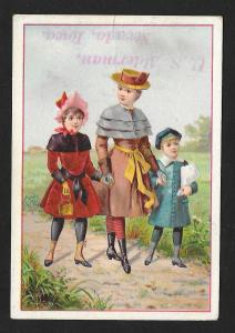 VICTORIAN TRADE CARD Alderman Charter Oak Ironware