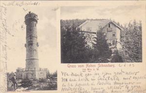 Austria Gruss Vom Hohen Scneeberg 1903