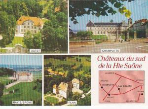 Chateaux du sud de la Haute Saone France Multi View