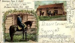 St. Louis World's Fair Exposition 1904, Postcard Post Card  General Fred D. G...