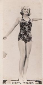 Cheryl Walker Hollywood Actress Rare Real Photo Cigarette Card