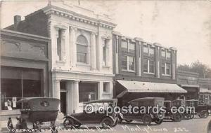 Real Photo - Farmers & Merchants Bank Manly, Iowa, USA Postcard Post Card Man...