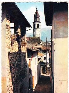 Switzerland, ASCONA, Lago Maggiore, Motivo Rustico, 1957 used Postcard