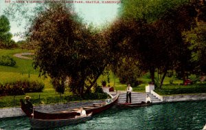 Washington Seattle Denny Blaine Park Gondola On Lake Washington 1908