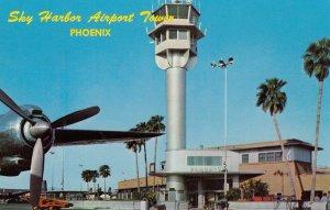 PHOENIX , Arizona , 50-60s ; Prop Airplane at Sky Harbor Airport