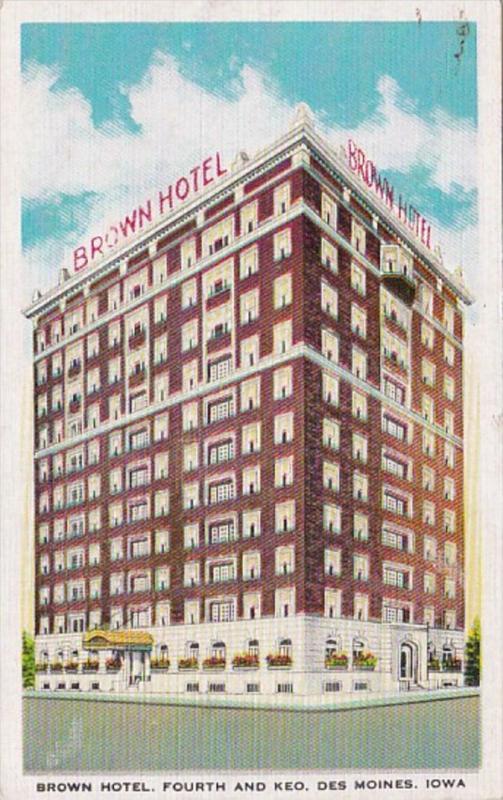 Iowa Des Moines Brown Hotel