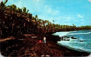 Hawaii Big Island Kalapana Black Sands Beach