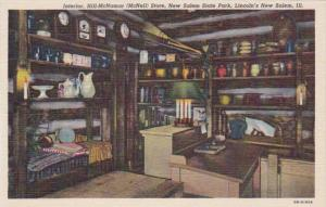 Illinois Lincoln's New Salem Interior Hill-McNamar Store New Salem State Park...