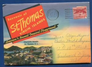 St Thomas Virgin Islands Caribbean souvenir postcard folder #2