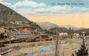 morning mine mullan idaho Antique Postcard L604