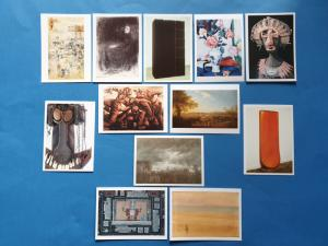 Collection Set of 12 Art Postcards, Sculptures, Assemblage, Artists PC466