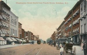 HOBOKEN , New Jersey, PU-1909; Washington Street North from Fourth Street