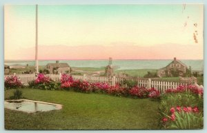 Chatham Massachusetts~Author Joseph C Lincoln Garden~Windmill~Pond~c1910