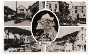 Post Card Cornwall Polperro 5 views used dated 1960