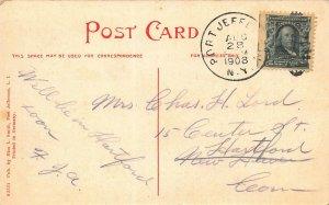 PORT JEFFERSON LONG ISLAND NY~SMITH'S HOTEL~1908 MISS L SMITH PHOTO POSTCARD