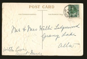 Postmarked 1912 Barrie Ont A Merry Christmas Embossed Color Postcard