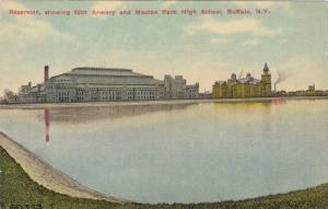 Reservoir,showing 65th Armory and Masten Park High School,Buffalo,New York, 0...
