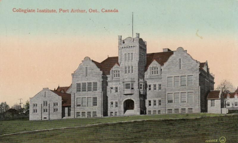 PORT ARTHUR , Ontario , Canada , 1900-10s ; Collegiate Institute