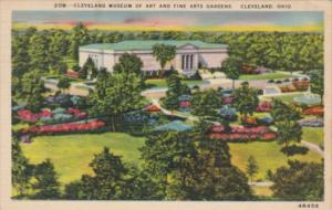 Ohio Cleveland Museum Of Art and Fine Arts Gardens 1944