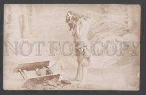 111719 NUDE Angel CUPID Girl Vintage PHOTO PC