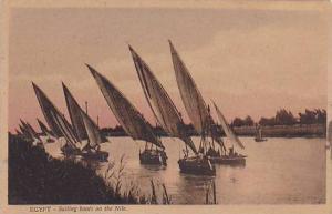 EGYPT - Sailing boats on the Nile , 00-10s