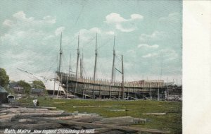 BATH , Maine, 1900-10s ; New England Shipbuilding Yard
