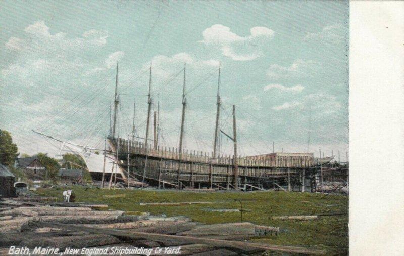 BATH , Maine, 1900-10s ; New England Shipbuilding Yard