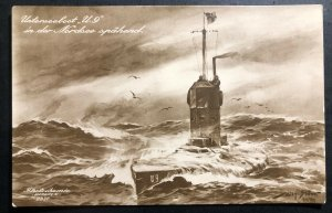 Mint WW1 German Navy U-9 Boat Submarine At The North Sea picture Postcard
