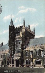 Vintage 1910 Oxford Postcard, Magdalen College W85