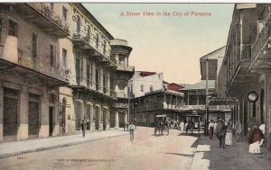 Panama City Central Avenue Avendia Central Typical Street Scene sk4489