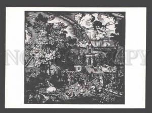 3089929 Russian FAIR by KUSTODIEV old ART NOUVEAU Silhouette
