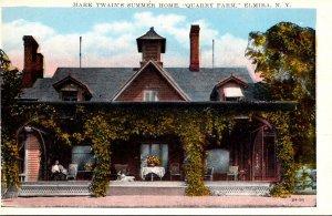 New York Elmira East Hill Quarry Farm Mark Twain's Summer Home