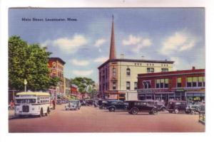 30's Bus, Cars, Downtown Main Street, Leominster, Massachusett, Perkins & Butler