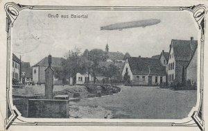 Gruss aus Baiertal , Germany , 1920 ; Zeppelin