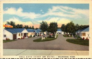Washington Bellingham Bell Auto Court and Motel Curteich
