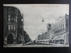 Canada CALGARY Eighth Avenue looking West HUDSON BAY STORE c1909 by Osborne Bros
