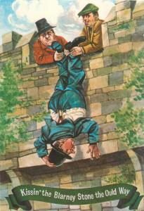 Kissing the Blarney Stone the Old Way comic
