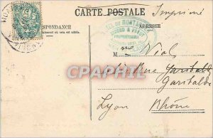 Old Postcard Chamonix La Mer de Glace and the Montanvert Hotel (altitude 1821 m)