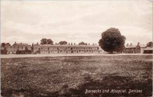 Barracks and Hospital Devizes Wiltshire England UK Unused Postcard E43