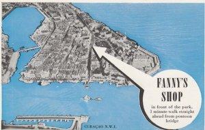CURACAO: Map , Fanny's Shop , 40-60s