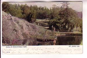 Pool Rockwood Park, St John, New Brunswick Warwick Used in New Hampshire 1906