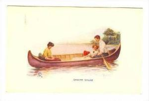 Couple supervised in row boat date 00-10s