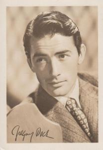 Gregory Peck Printed But Hand Apperance Signed Photo