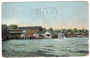 Bath, Maine, The Waterfront, showing Steamer Landings