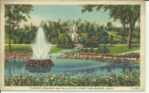 Electric Fountain And Falls, State Street Park, Bangor, Maine