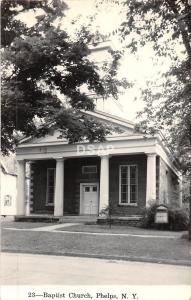 A22/ Phelps New York NY RPPC Postcard c1950 Baptist Church