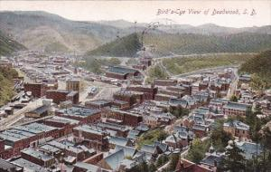 Bird's Eye View Of Deadwood South Dakota 1911