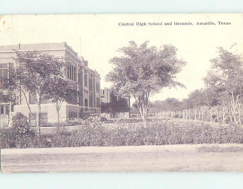 Divided-Back HIGH SCHOOL Amarillo Texas TX k0670