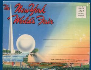 New York Worlds Fair 1939 travel postcard licensed folder official souvenir