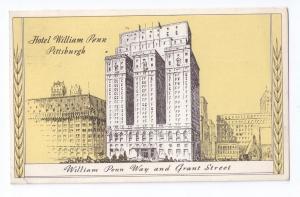 Hotel William Penn Pittsburgh PA 1943 Statler Hotels